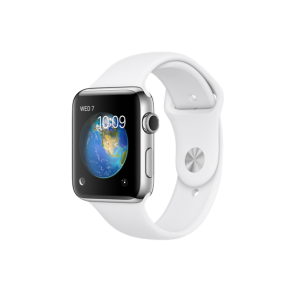Watch Series 2 Aluminum (42mm), Silver, White Sport Band