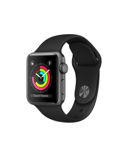 Watch Series 3 (gps) Alum 42mm, Black Sport Band