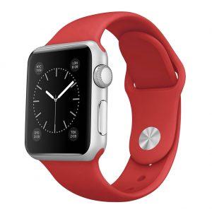 Watch Series 3 Aluminum (42mm), Sport band red