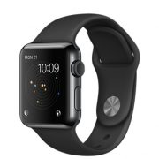Watch Series 1 Aluminum (38mm), Space Gray, Black Sport Band