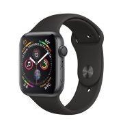Watch Series 4 Aluminum Cellular (44mm), Space Gray, Black Sport Loop