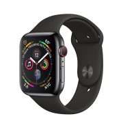 Watch Series 4 Steel Cellular (44mm), Space Black, Black Sport Band